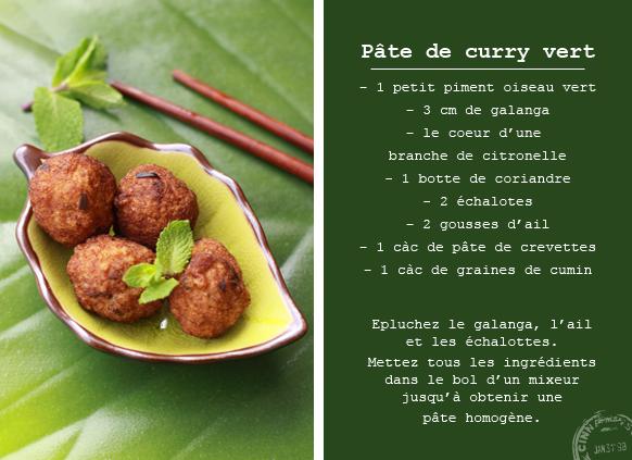 Beignets de poulet au curry vert Compo BEIGNETS DE POULET AU CURRY VERT