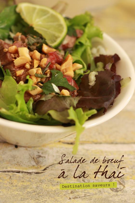 Salade de boeuf la thai - Comment cuisiner le coeur de boeuf en tranche ...
