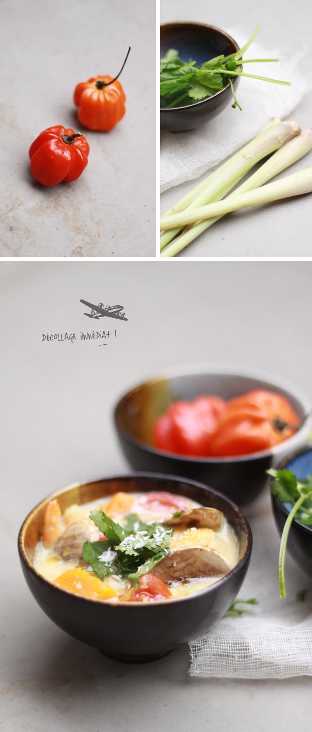 Soupe Thai crevette et potiron COMPO {SUR LA ROUTE} SOUPE ÉPICÉE THAI AUX CREVETTES ET AU POTIRON