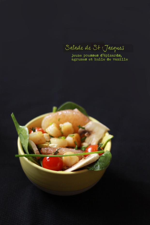 Salade de St Jacques aux agrumes SALADE DE ST JACQUES AUX AGRUMES
