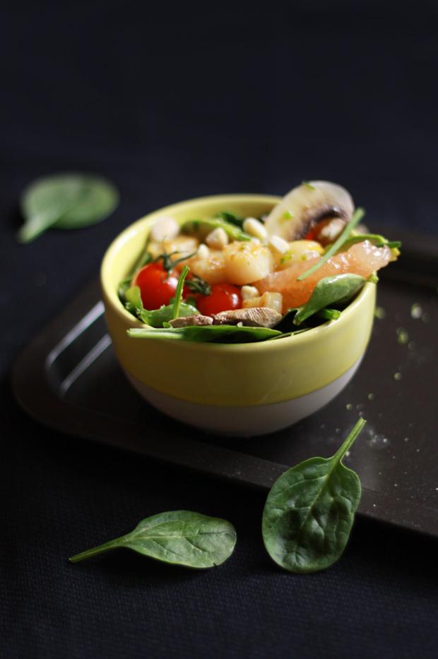 Salade de St Jacques aux agrumes2 SALADE DE ST JACQUES AUX AGRUMES