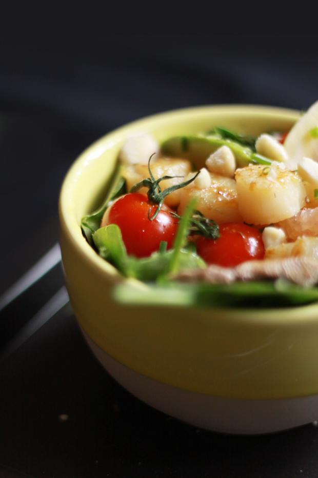 Salade de St Jacques aux agrumes4 SALADE DE ST JACQUES AUX AGRUMES