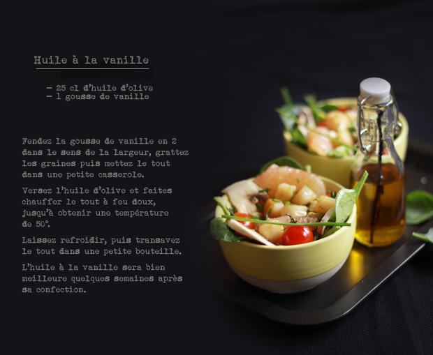 Salade de St Jacques aux agrumes COMPO SALADE DE ST JACQUES AUX AGRUMES