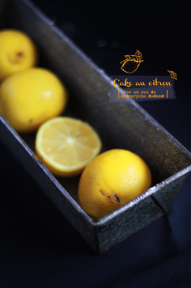 Cake au citron CAKE AU CITRON & MASCARPONE