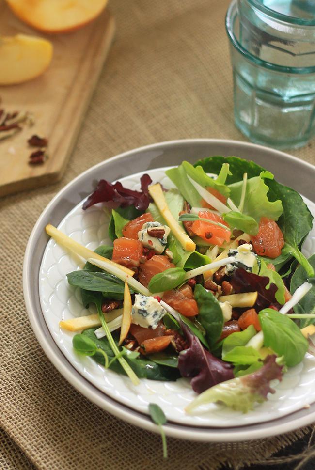 Salade-de-saumon-gravlax,-fenouil-et-St-Agur3