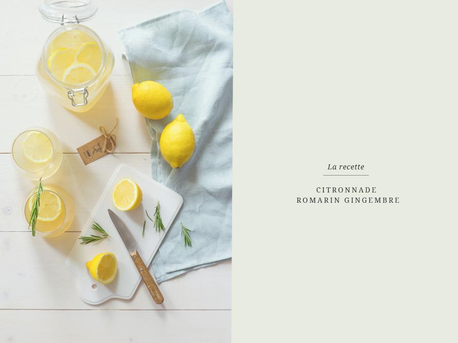 Citronnade maison gingembre romarin_La recette