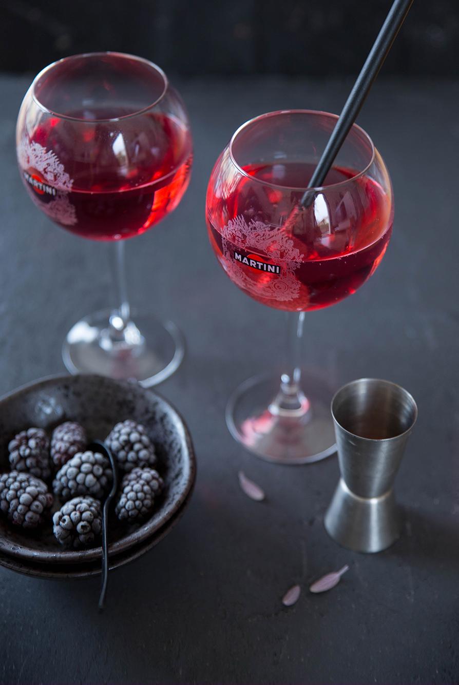 Cocktail Black Mamba Martini ©Fraise & Basilic