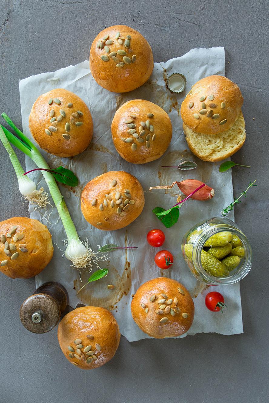 Buns à la farine de maïs ©Fraise & Basilic