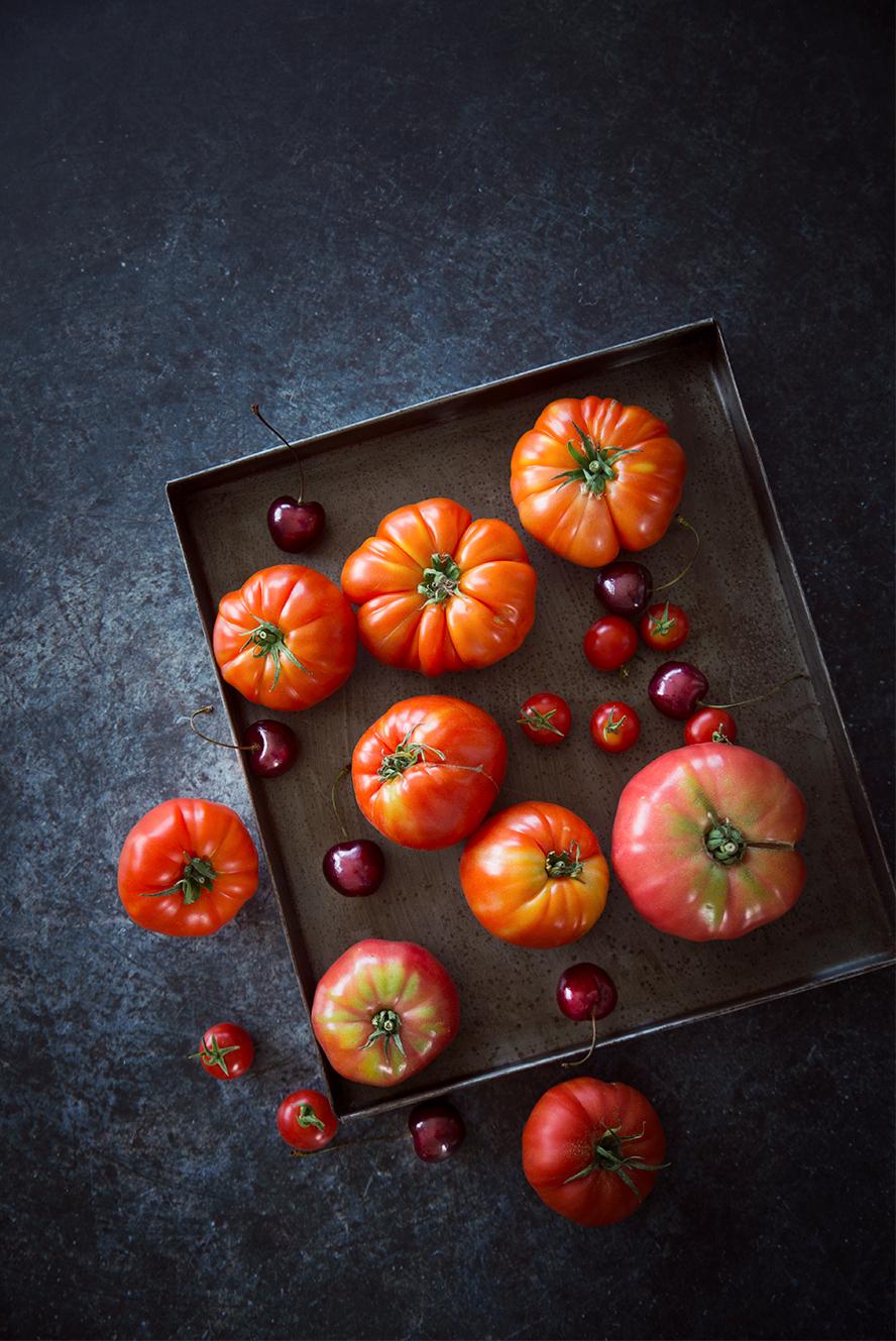 Tomates & cerises ©Fraise & Basilic