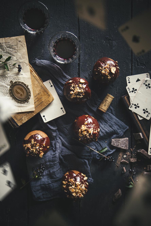 Muffins à la courge topping chocolat épicé © Fraise & Basilic