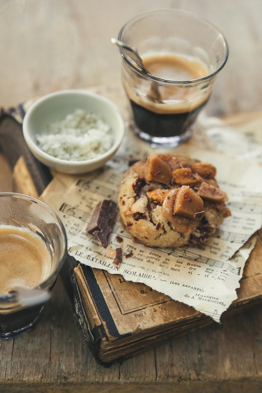 Cookies vegan chocolat et caramel de coco