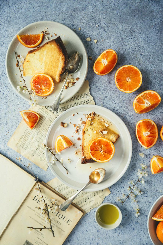 Gâteau aux oranges sanguines et à l'huile d'olive