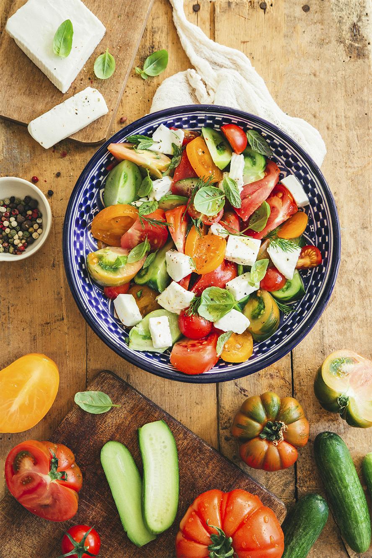 Salade colorée ©Fraise & Basilic