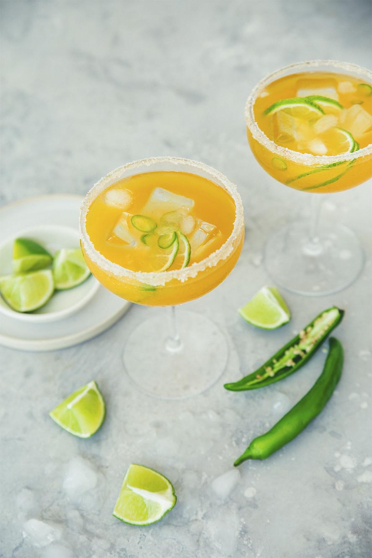 Margarita muy caliente mangue ananas et piment jalapeno