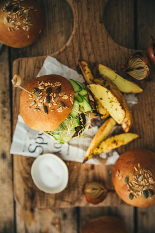 Veggie burger aux champignons ©Sandrine Saadi