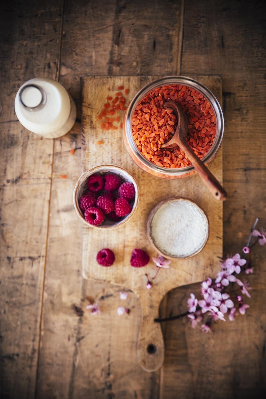 Porridge coco framboises ©Sandrine Saadi