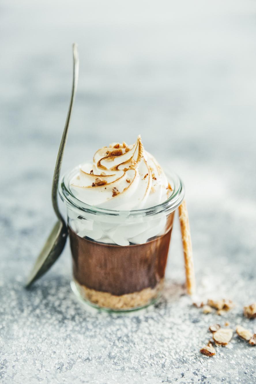 Crème chocolat Tonka façon Smores ©Sandrine Saadi