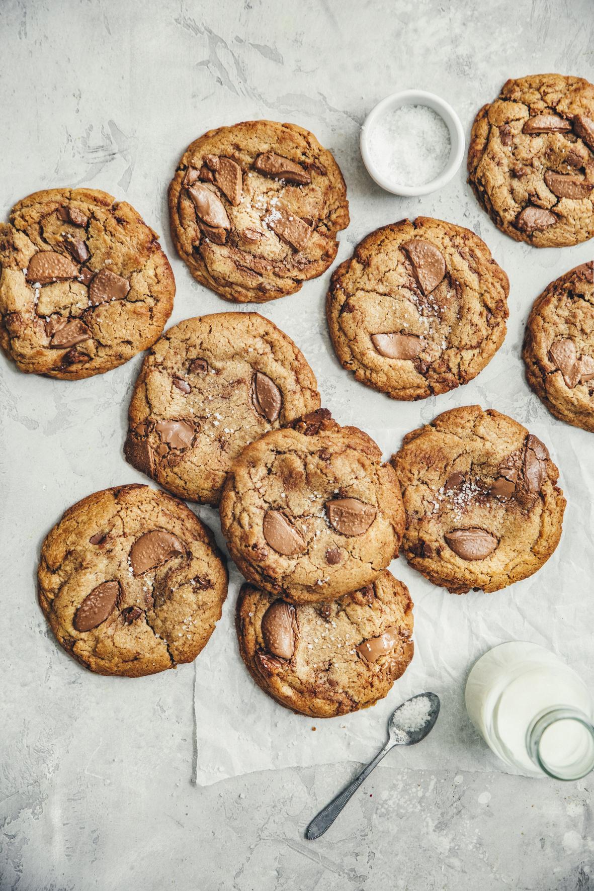 Cookies au beurre noisette et au chocolat au lait ©Sandrine Saadi