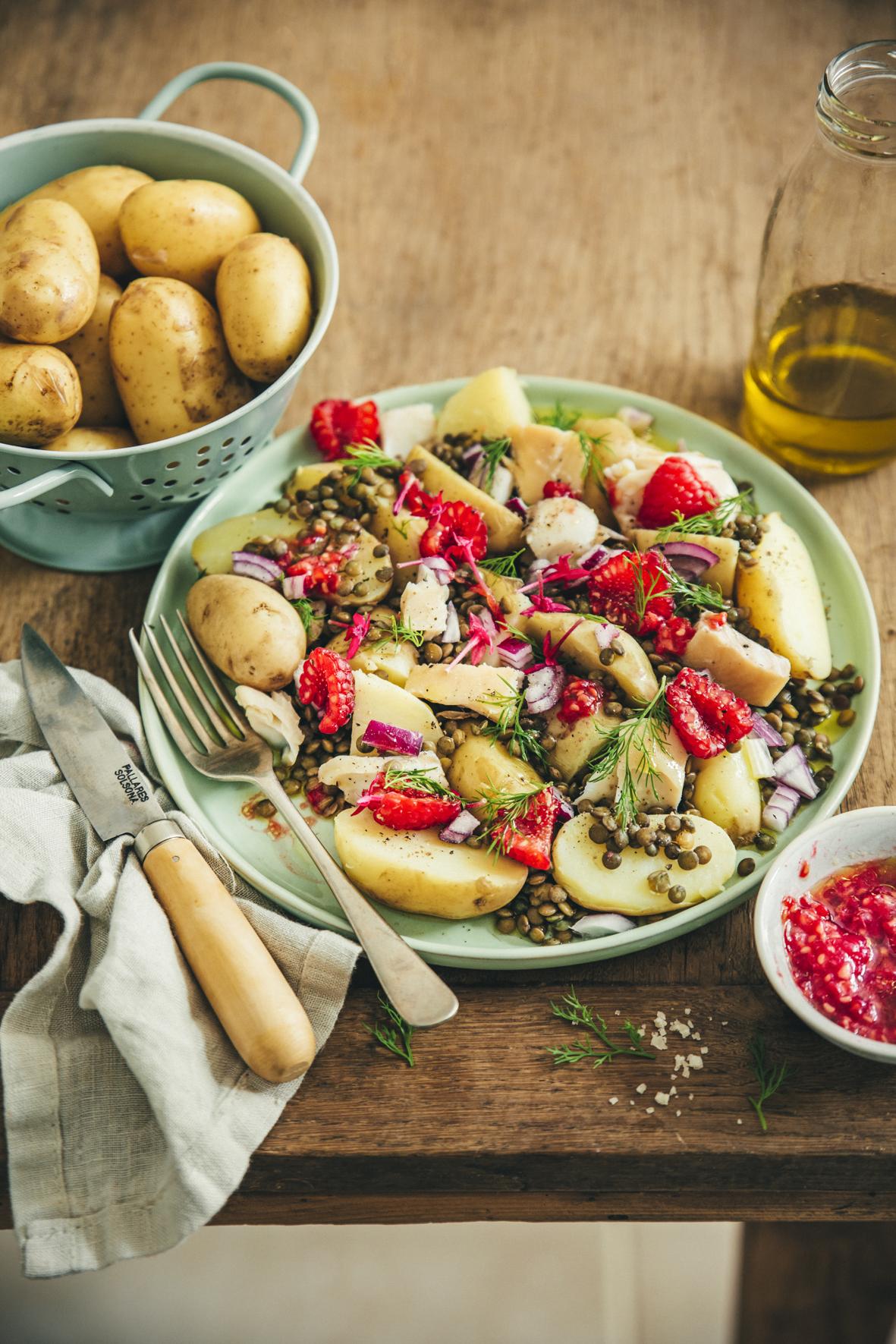 Salade tiède de pommes de terre de primeur au haddock ©Sandrine Saadi