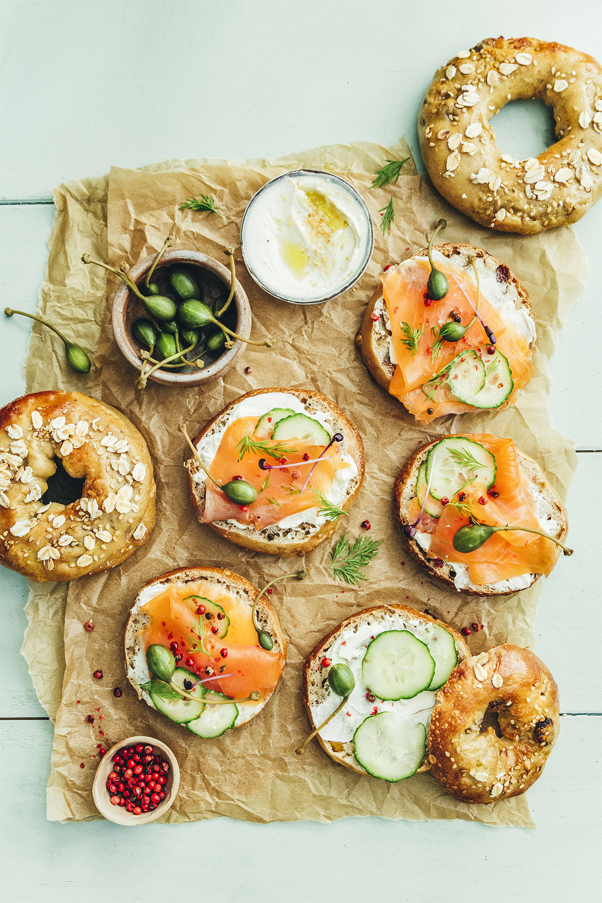 Breakfast gourmand__Bagel au saumon et cream cheese
