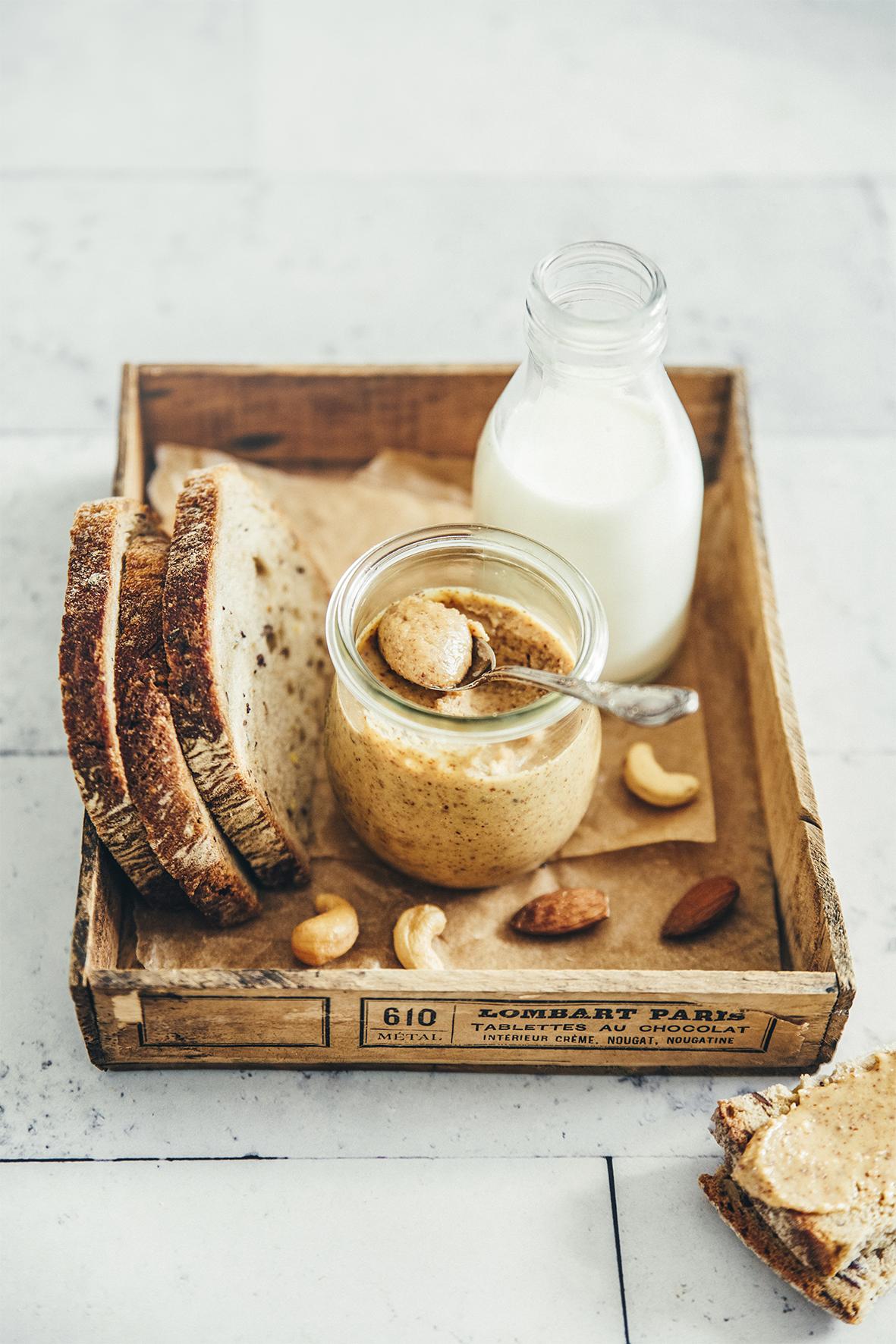 Breakfast gourmand Purée de noix de cajou aux amandes
